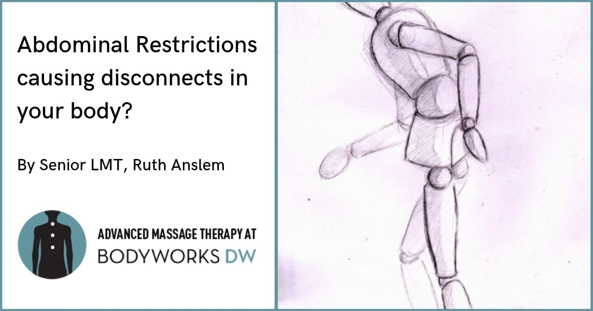 massage therapy for abdominal adhesions: Abdominal Restrictions causing disconnects in your body?