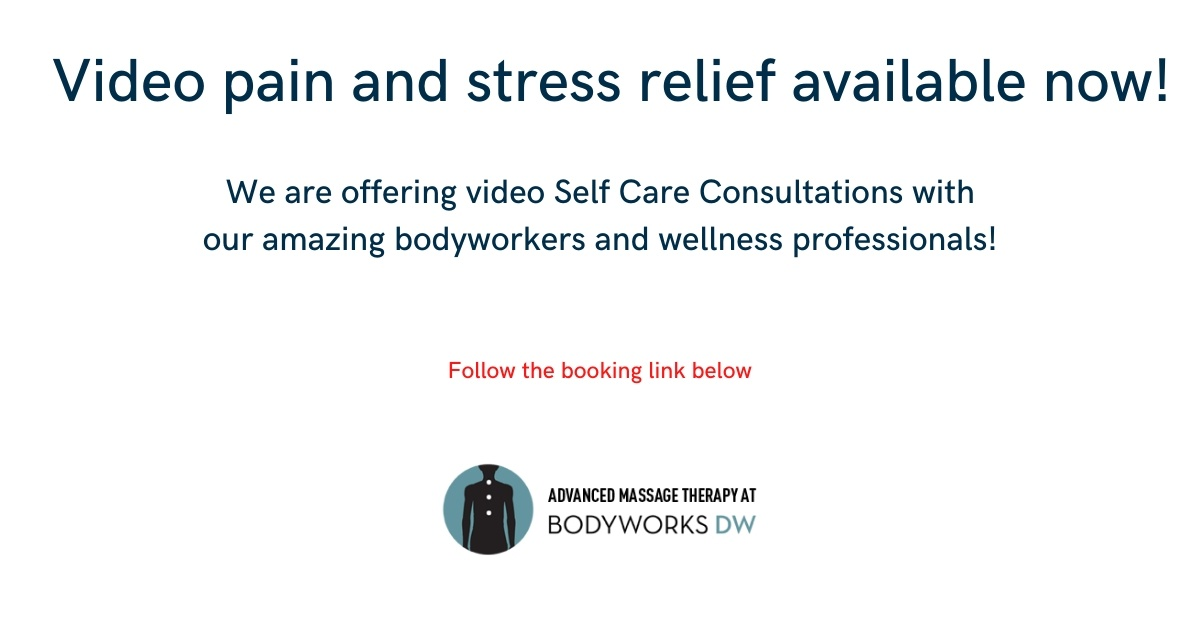 no longer safe to get massage during coronavirus outbreak - video pain and stress relief available now!